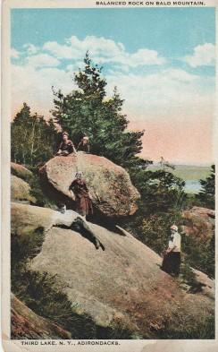 Balanced Rock. Bald Mtn Postcard Circa 1920
